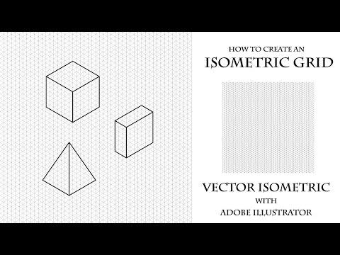 Как создать изометрическую сетку в Adobe Illustrator. How to create an Isometric grid.