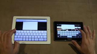 iPad 2 vs Blackberry Playbook - Browser Test (1080p HD)