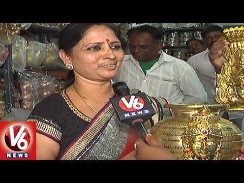 Huge Demand For Variety Designs Of Bonam Pots In Hyderabad | V6 News