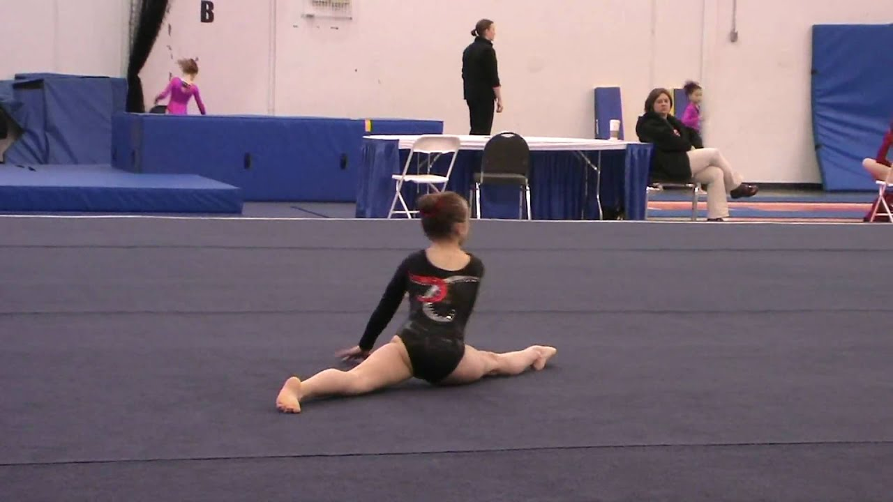 Girls gymnastics level 4 floor routine youtube for Floor gymnastics