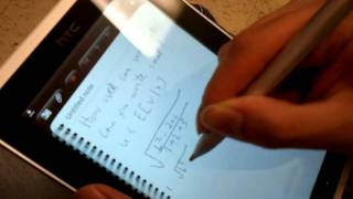 HTC Flyer Handwriting Test