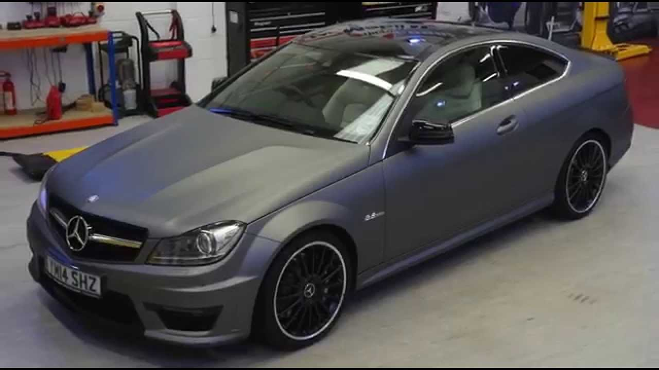 C63 Amg Coupe Wrapped By Pw Pro Youtube