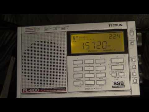Radio New Zealand on Shortwave with Tecsun PL 600