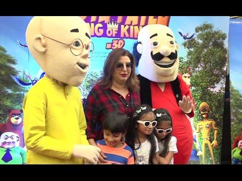 "Farah Khan hosts a special screening of ""Motu Patlu: King of Kings"" Moive thumbnail"