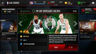 NBA TIP OFF NBA LIVE MOBILE! FREE KOTC PACK! KINGS OF THE COURT PACK! NBA LIVE MOBILE!