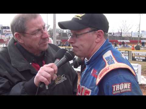 Lincoln Speedway 410 Sprint Car Victory Lane 3-15-15