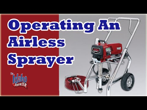 Operating an airless sprayer.  How To Use A Titan Paint Sprayer.  Painting tips.