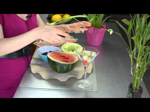 Red, White & Blue Watermelon-Blueberry Salad : Fruit & Vegetable Dishes