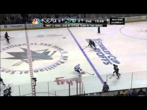 Logan Couture tip in goal 2-0 May 21 2013 LA Kings vs SJ Sharks NHL Hockey