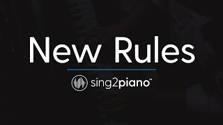 New Rules Piano Karaoke Instrumental Dua Lipa