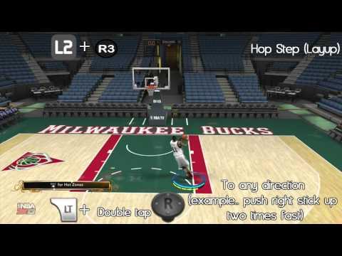 NBA 2K13 - Layup Tutorial : Eurostep. Hopstep. Runner. Spin Layup. Reverse Layup & More