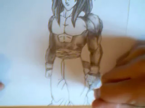 Dibujando / Drawing  Goku SSJ4