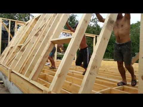 Как поднять каркасный дом своими руками видео