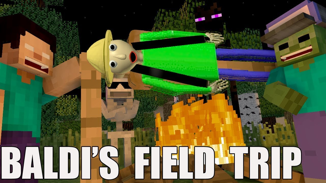 Monster School Baldi's basic FIELD TRIP Minecraft Animation