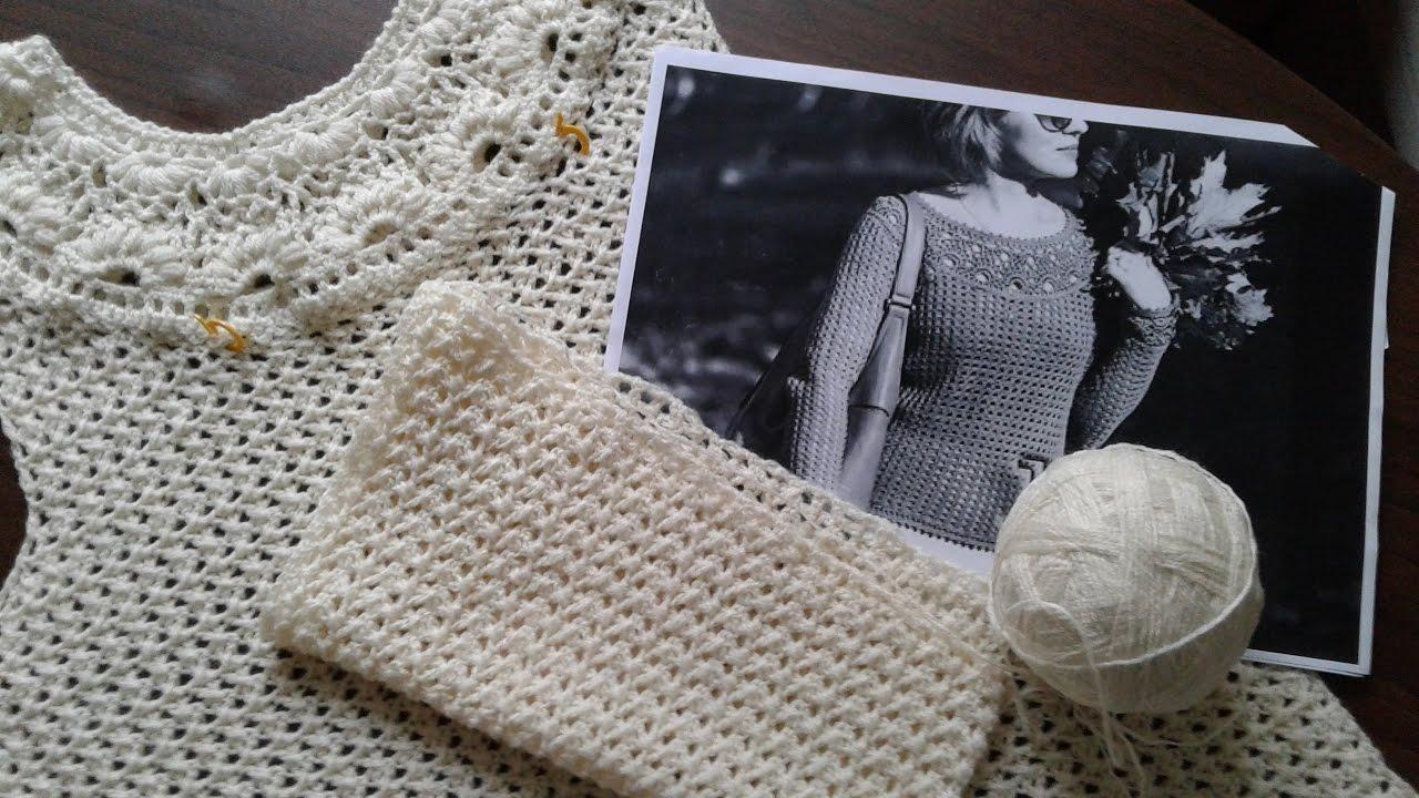 Вязание гр светлана заяц пуловер с круглой кокеткой часть 9