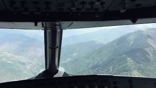 Plane Landing at Paro Airport of Bhutan