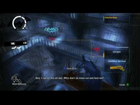 Batman: Arkham Asylum - NOCTURNAL HUNTER - 2:11.93 - INSANE NIGHT MAP PACK DLC - REUPLOAD