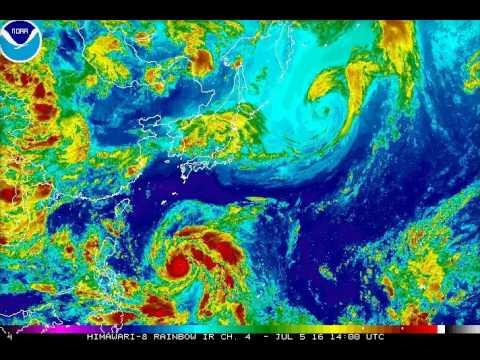 Cyclone Nepartak Spins Toward Taiwan