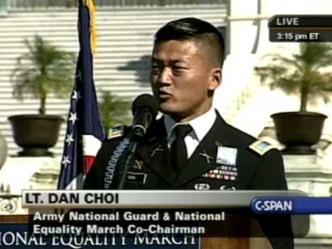 National Equality March Rally: Lt. Dan Choi speaks