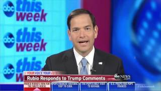 Marco Rubio on This Week with George Stephanopoulos