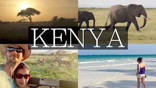 3 Day Kenya Safari Drive! Plus Diani Beach, Amboseli, Tsavo West Tour | Vlog