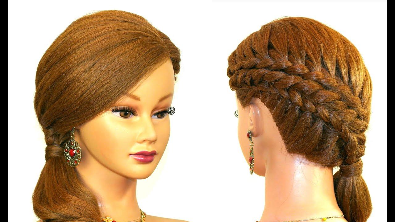 Красивое плетение волос на средние волосы