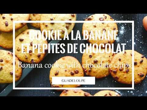 Cookie à la banane et pépites de chocolat