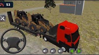 European Truck Simulator 2019 #4 Dump truck and excavator transport games, truck driving