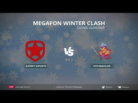 [RU] Gambit Esports vs NoPangolier | Bo3 | MegaFon Winter Clash by @Tekcac