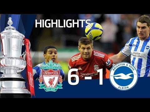 Liverpool 6-1 Brighton - Official Highlights and Goals | FA Cup 5th Round 19-02-12