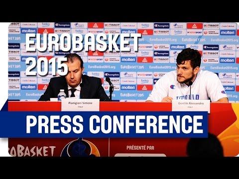 Israel v Italy - Post Game Press Conference - Live Stream - Eurobasket 2015
