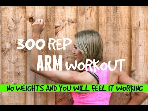 ARM EXERCISES FOR WOMEN - HOME WORKOUT TO LOSE ARM FAT AND GET RID OF BINGO WINGS -NO WEIGHTS NEEDED