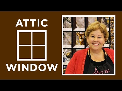 Attic Windows Quilt with a Panel: Easy Quilting Tutorial with Jenny Doan of Missouri Star Quilt Co