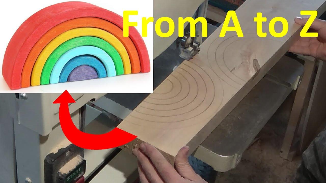 Деревянная радуга своими руками 96