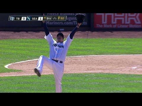 TB@SEA: Felix freezes Rodriguez to seal perfect game