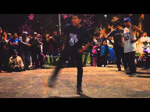 Breakdancing at Plaza Colon on 8/6/2014.  Cochabamba, Bolivia.