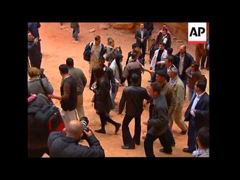 President Sarkozy and Carla Bruni visit Petra