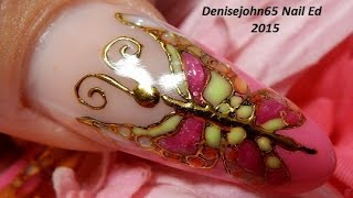 Barbies & Butterflies ------Nail Tutorial -------Madam Glam 30% OFF use 30Denise