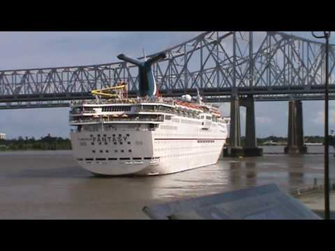 Carnival Fantasy Cruise Ship Leaving New Orleans