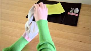 Vama Decor - How To Fold A Napkin? Ballerina