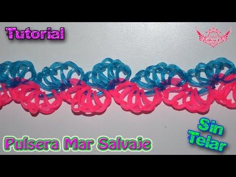 ♥ Tutorial: Pulsera Mar Salvaje (sin telar) ♥