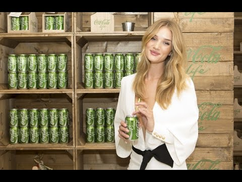 Rosie Huntington-Whiteley at the Coca-Cola Life boutique launch