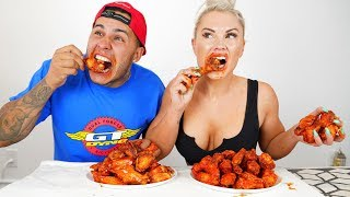 "Last One To ""DRINK WATER"" WINS $1,000 CASH!!  (WORLD'S SPICIEST CHICKEN WINGS)"