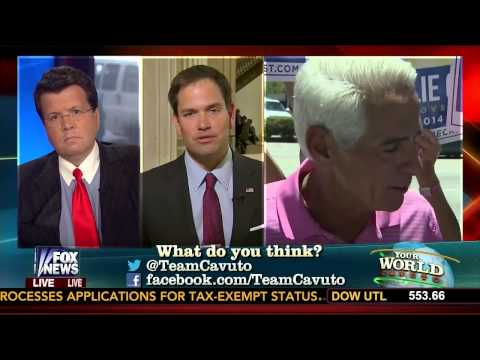 "Watch Senator Marco Rubio's reaction to Charlie Crist's ""ridiculous and silly"" comments"