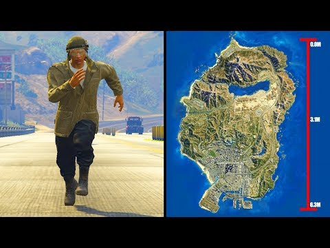 How Long Does It Take To Run Across The Map in GTA 5?