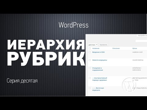 Основы WordPress. Серия десятая. Иерархия рубрик