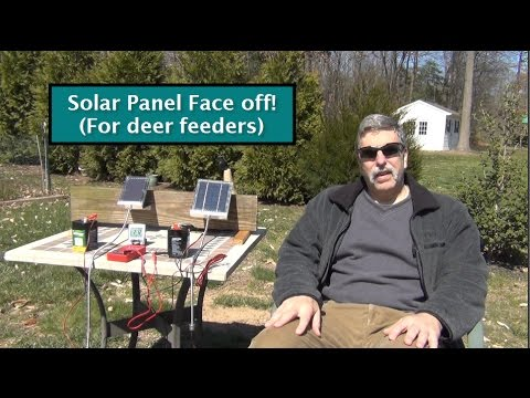6v Solar Panels Test/Review (for deer feeders)
