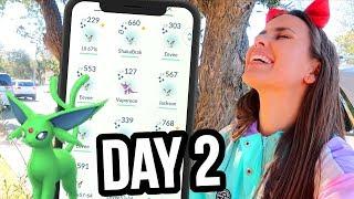 SHOULD I EVOLVE? SHINY EEVEE COMMUNITY DAY 2 | Pokémon GO Vlog | ZoeTwoDots #PokemonGO