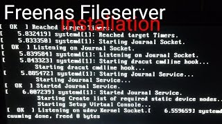 Freenas Fileserver installation 2011