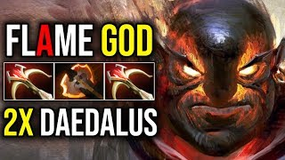 The Flame God [Ember Spirit] HOW TO COUNTER MEEPO 2xDaedalus Insane Damage By Fn | Dota 2 Highlights
